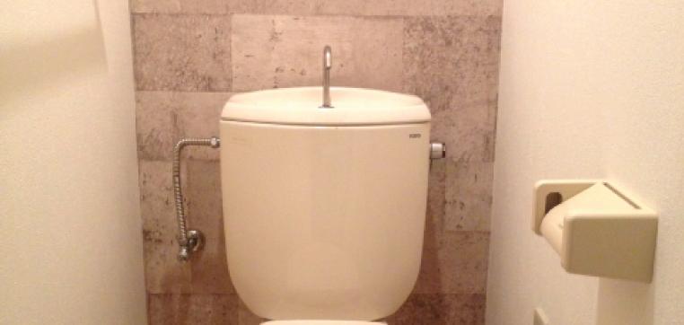 手洗い水栓付きとは、レバーを回すとタンクの上に設置されている手洗い吐水口から水が流れ出てくるタイプのものを指します