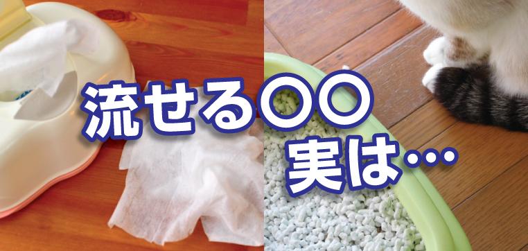 トイレに流せるグッズは、トイレットペーパーよりも溶けにくい