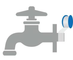 蛇口と壁の間からの水漏れはシールテープの劣化が原因